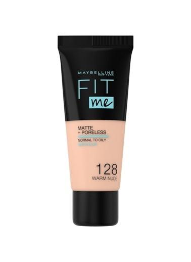 MAYBELLINE NEW YORK Maybelline New York Fit Me Matte+Poreless 128 Numara Warm Nude Fondöten Renksiz